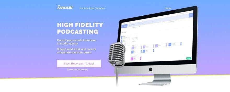 Zencastr programa online para gravar podcasts