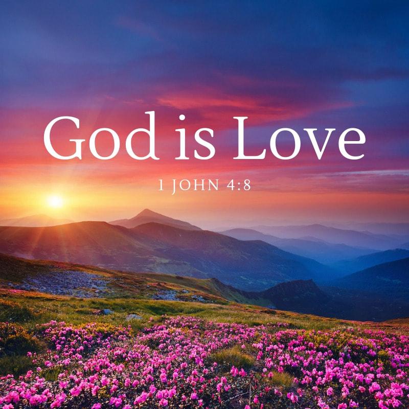 1 John 4:8 God is Love Bible Verse