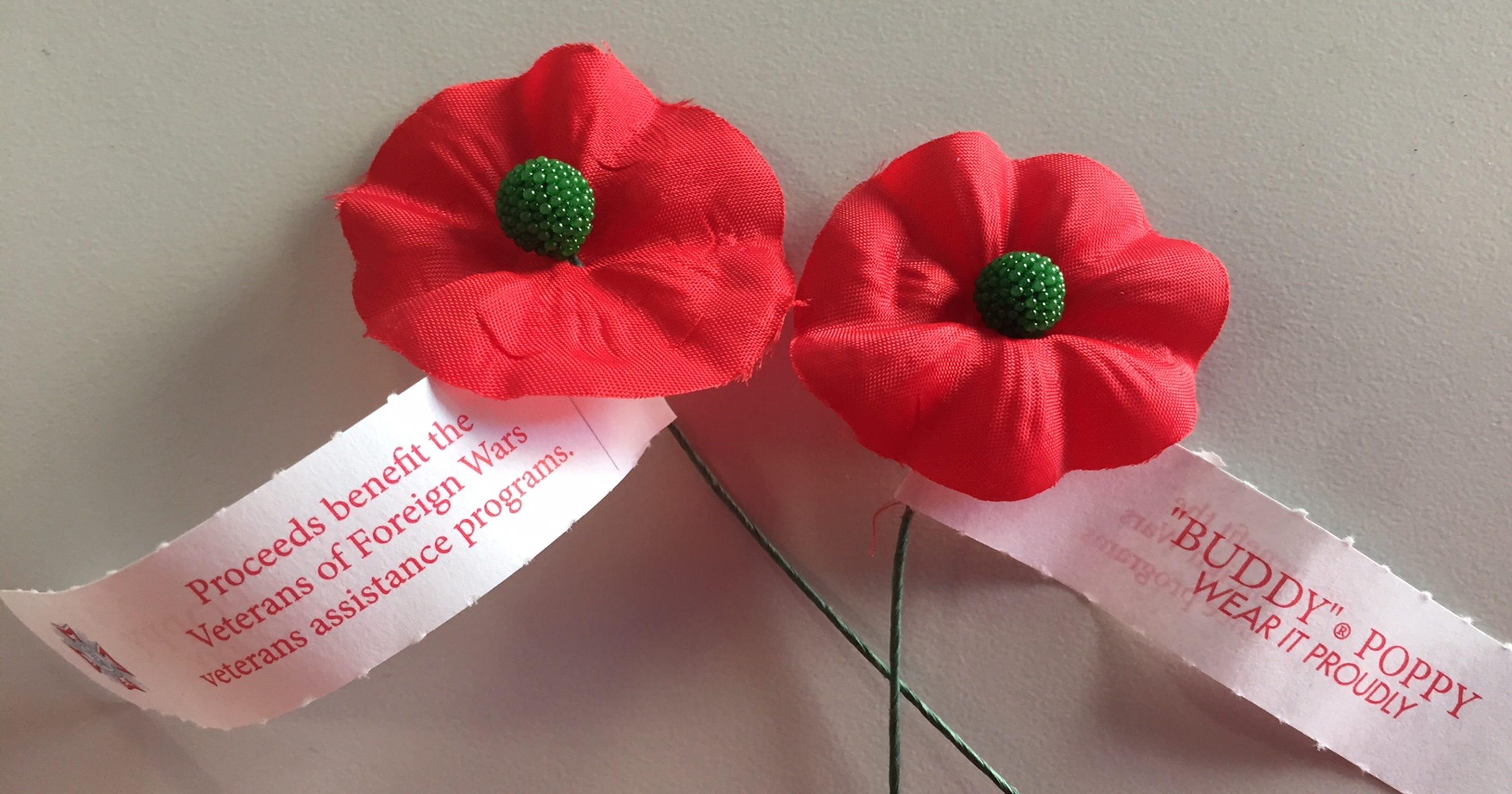 Memorial Day poppies, donations stolen from VFW volunteer