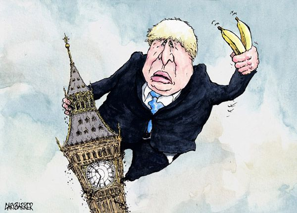 Boris Johnson cartoon - Political Cartoonist Gary Barker ...