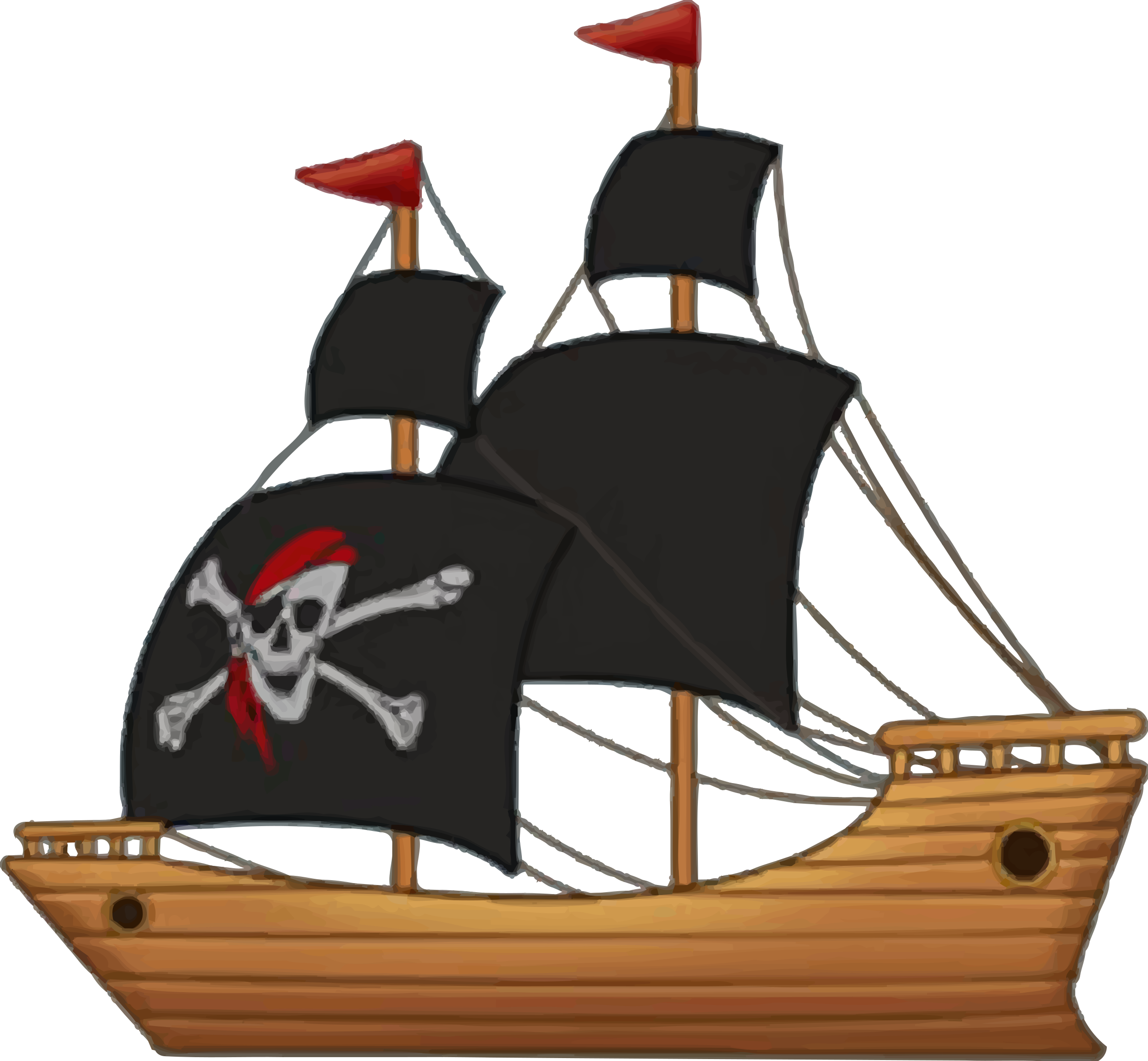 Pirate Ship Vector Clipart image - Free stock photo ...