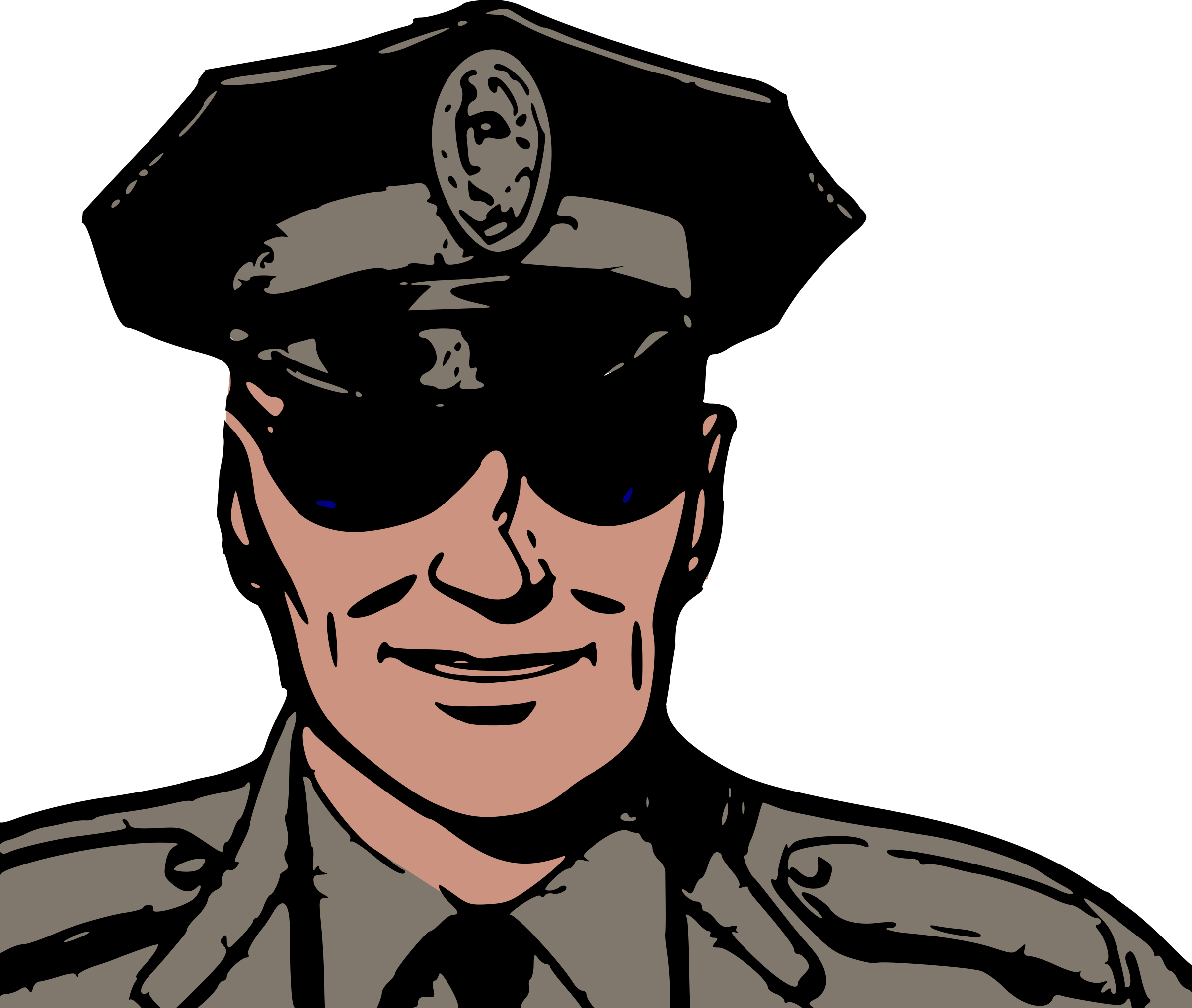 Police with Sunglasses vector clipart image - Free stock photo - Public Domain photo - CC0 Images