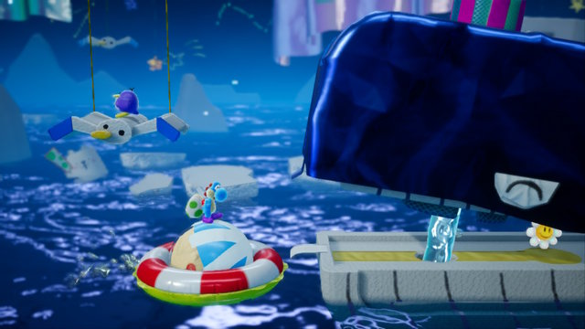 Slip-Slide Isle in Yoshi's Crafted World