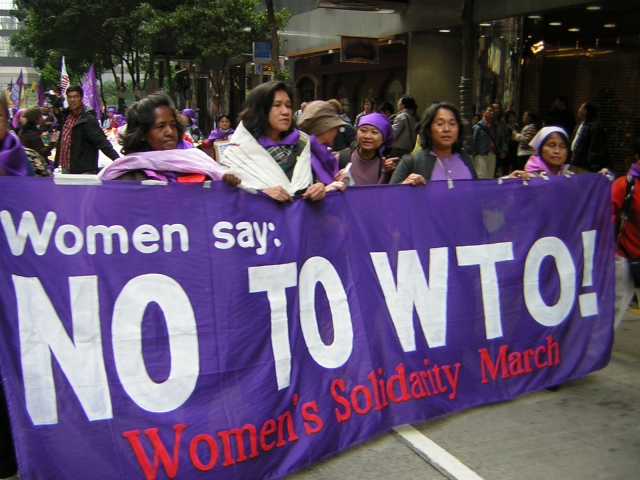 Photos from the Women's March on the WTO Protests; Hong ...