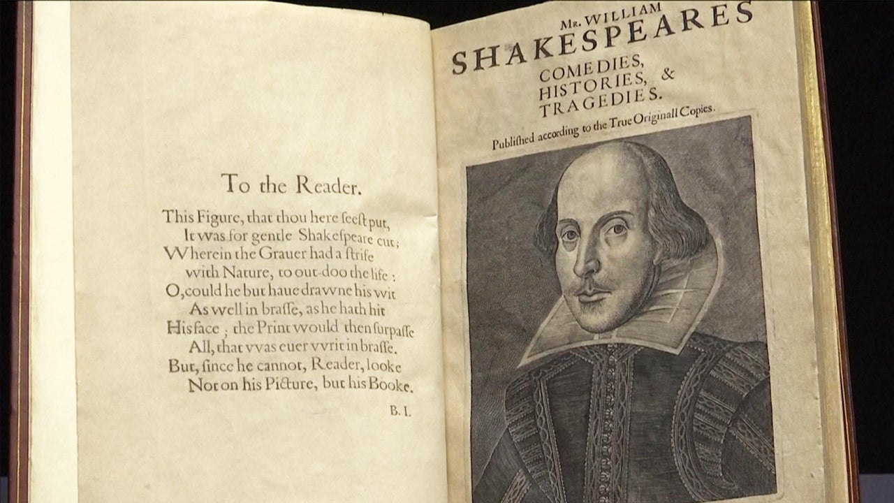 Rare 1623 Book of Shakespeare's Works Could Sell for $6 ...