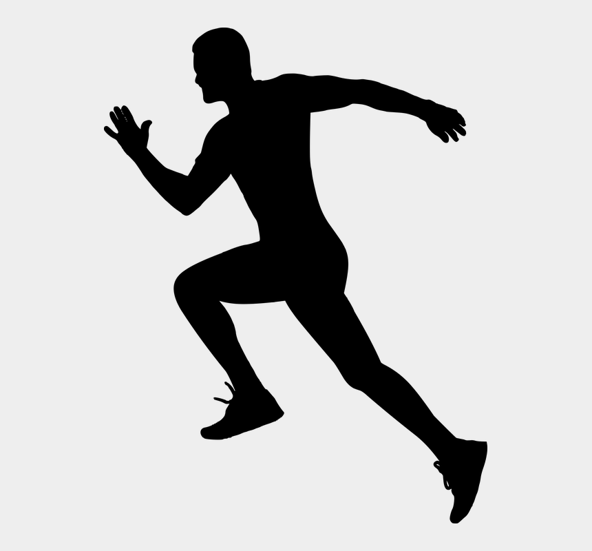 Athlete Vector Running Away - Silhouette Of Someone ...