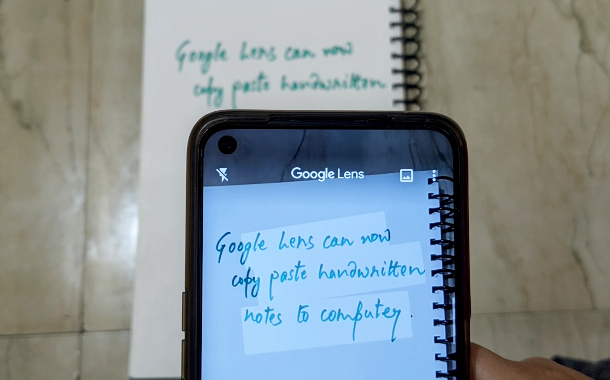 Google Lens can now scan handwritten notes and paste the ...