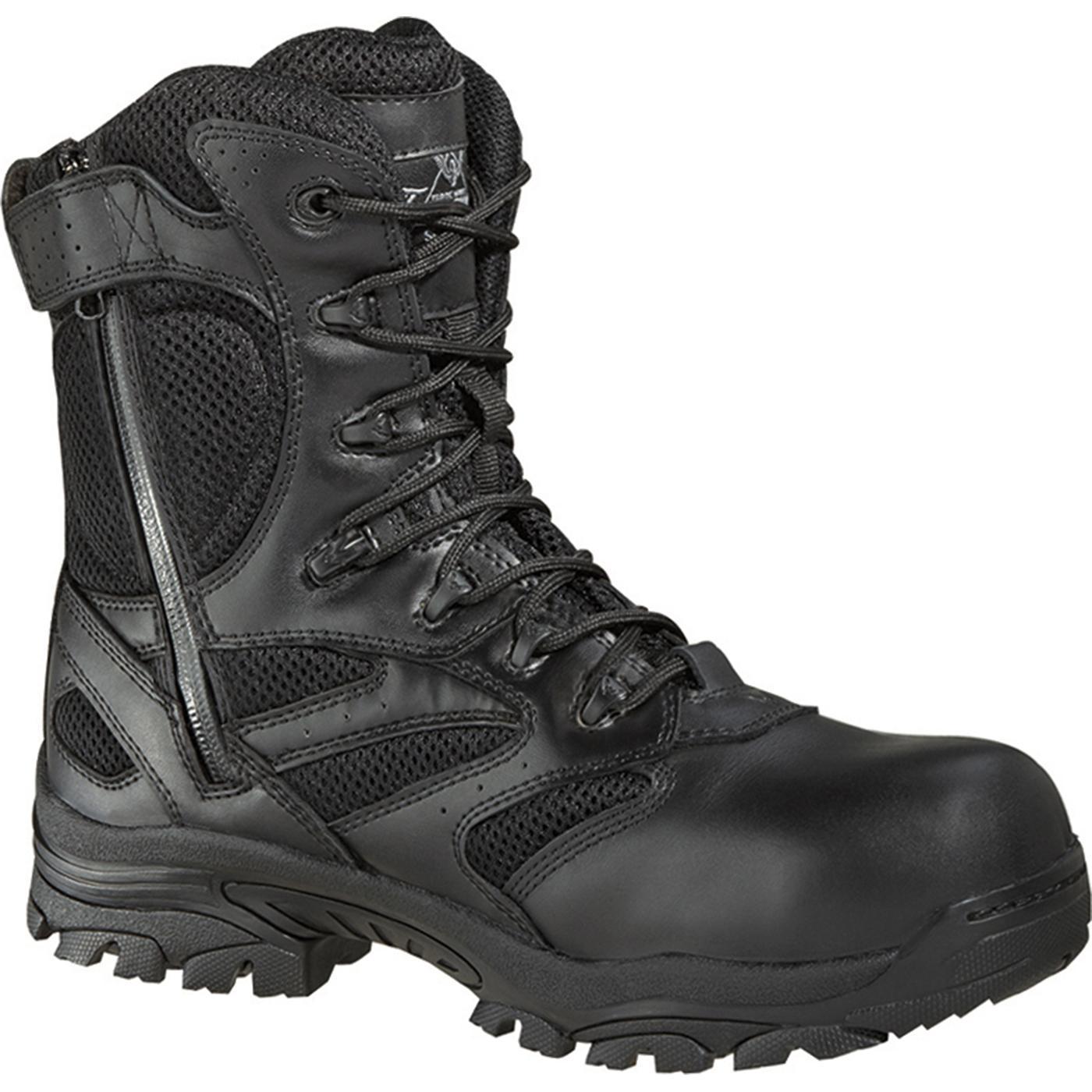 Black Composite Toe Side Zipper military boot - Thorogood 804-6191