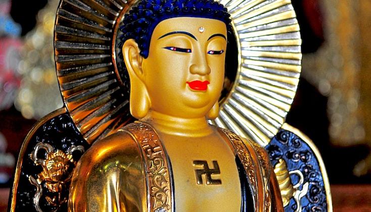 Buddhist monk raises awareness about the swastika's ...