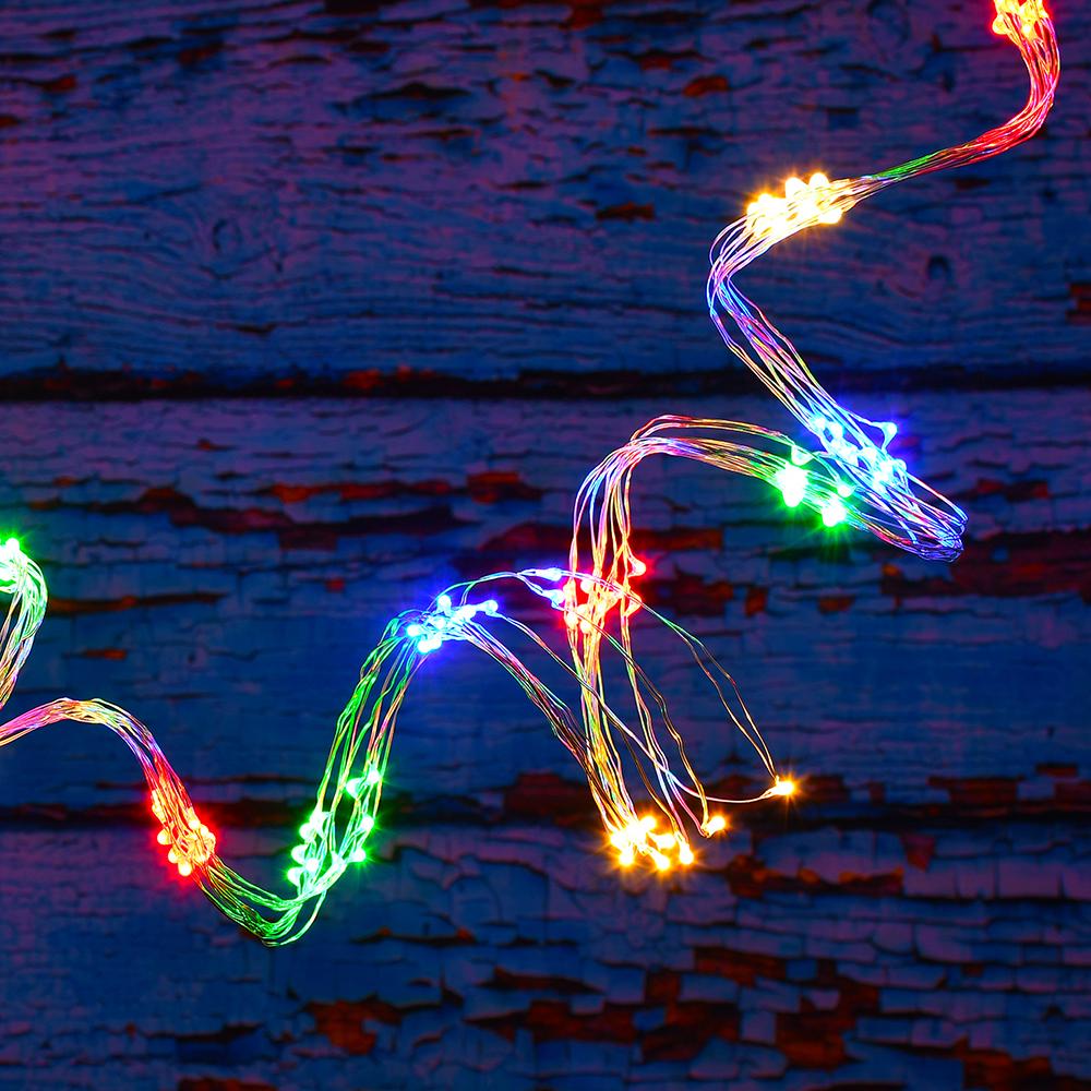 Battery Powered LED Multi Strand Fairy Lights 2-100 Lights