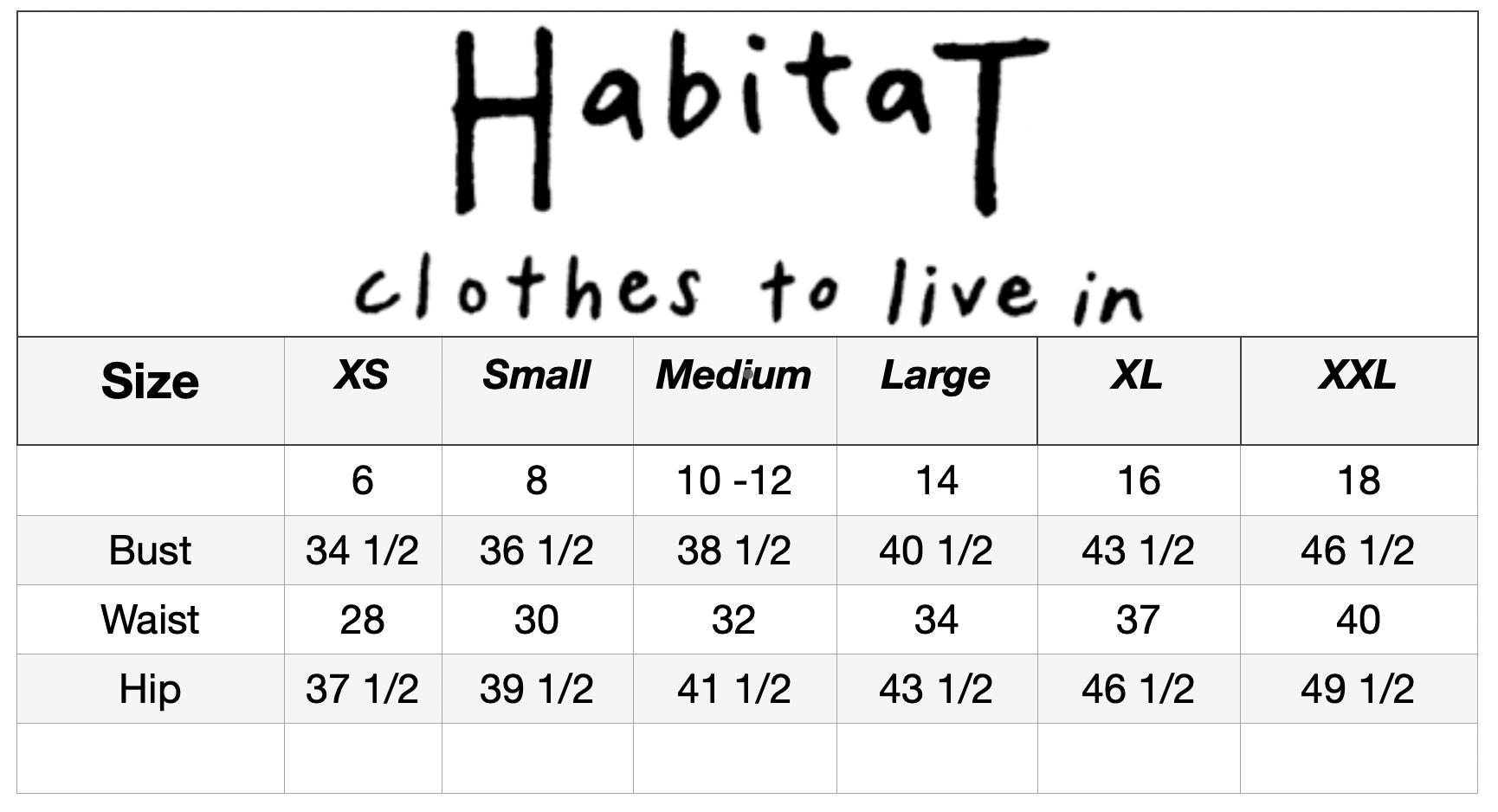 Habitat_Size_Chart | McClutchey's