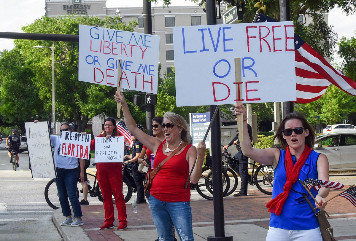 Americans Continue Anti-Lockdown Protests as COVID-19 Spreads