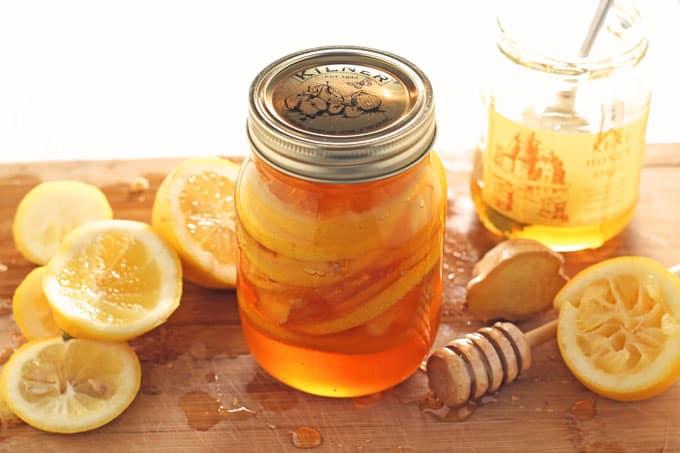 Honey Lemon Ginger Jar - Natural Cold & Flu Remedy - My ...
