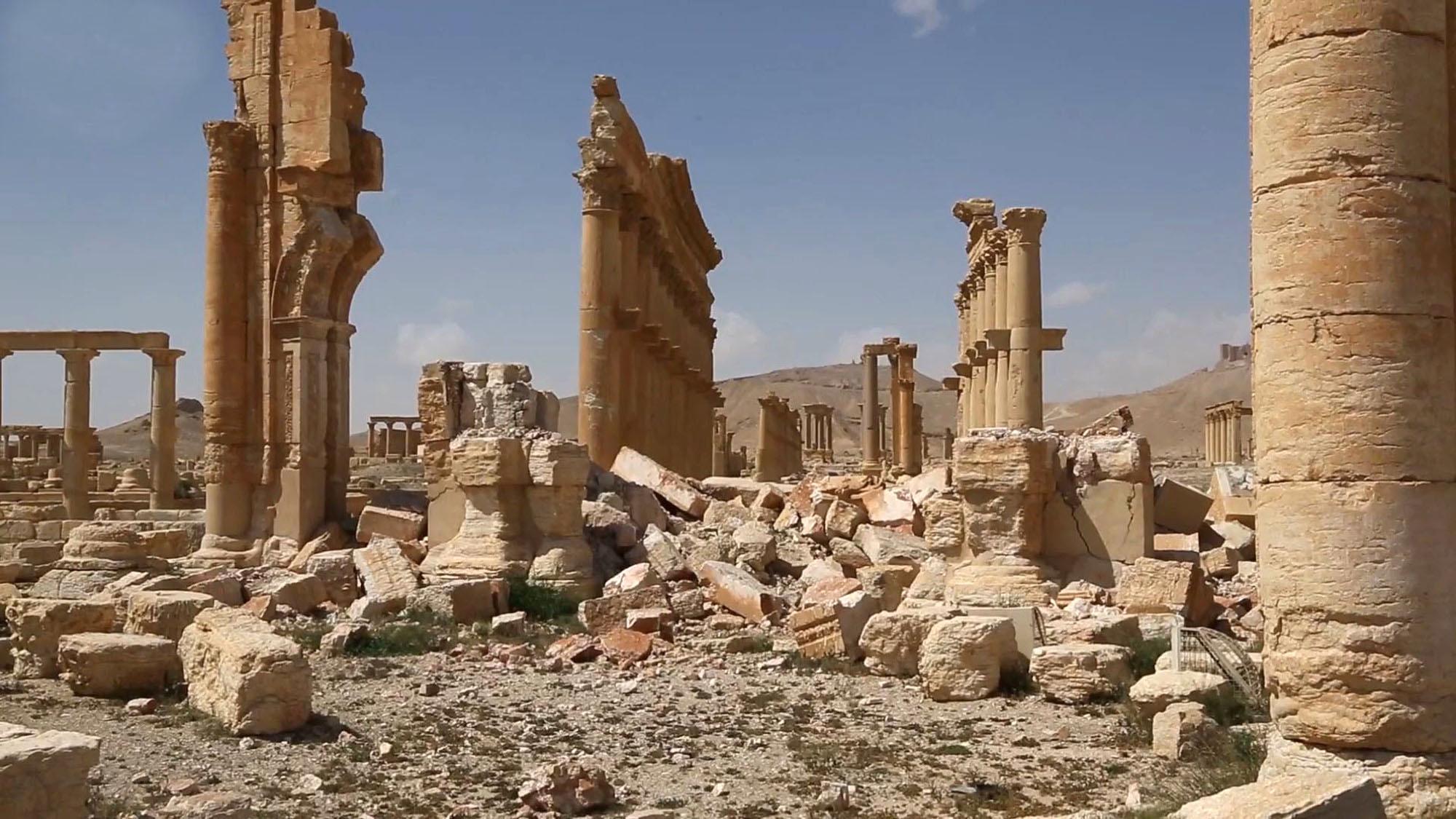 Esto es lo que queda de la antigua Palmira