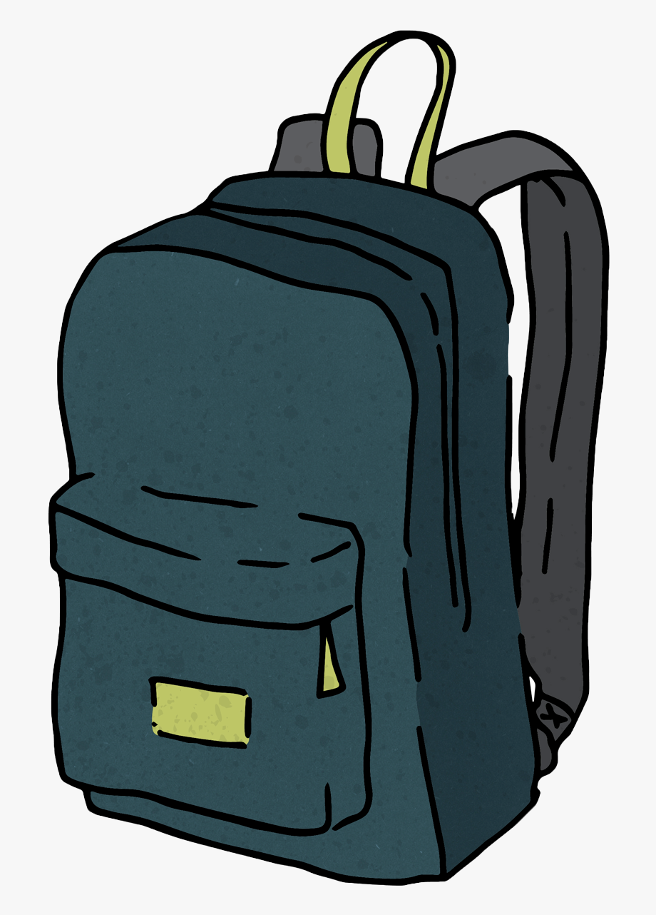 Cartoon Backpack Png - Backpack Cartoon Png , Transparent Cartoon, Free Cliparts & Silhouettes ...