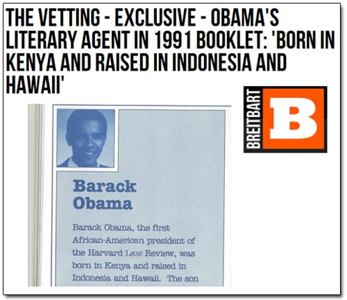Breitbart Birther Exclusive: Obama Born In Kenya - Or Not ...