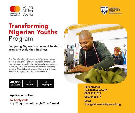 Transforming Nigerian Youths program for young change-makers in MSMEs 2020