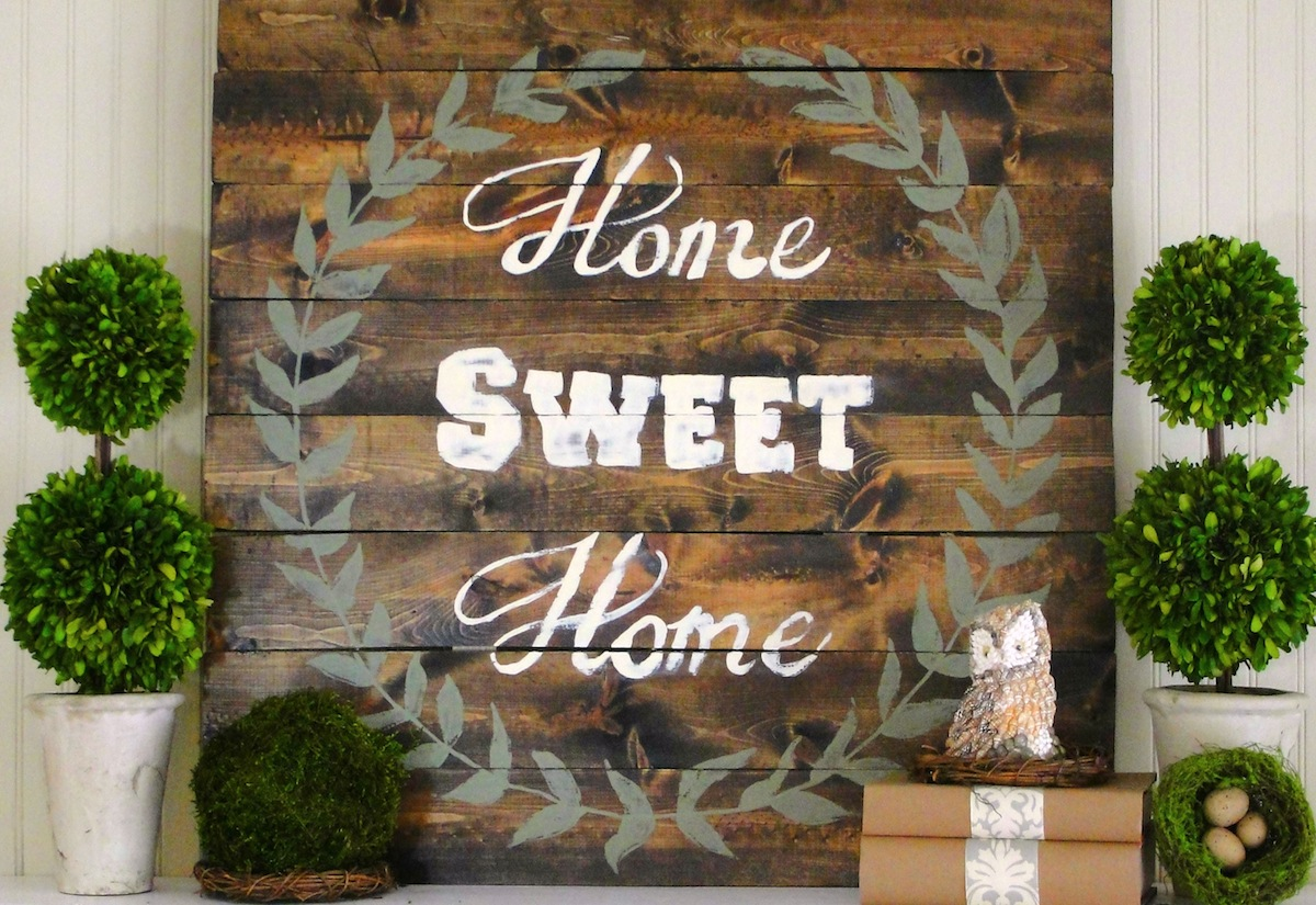 Home Sweet Home Sign {Tutorial} - Our Southern Home