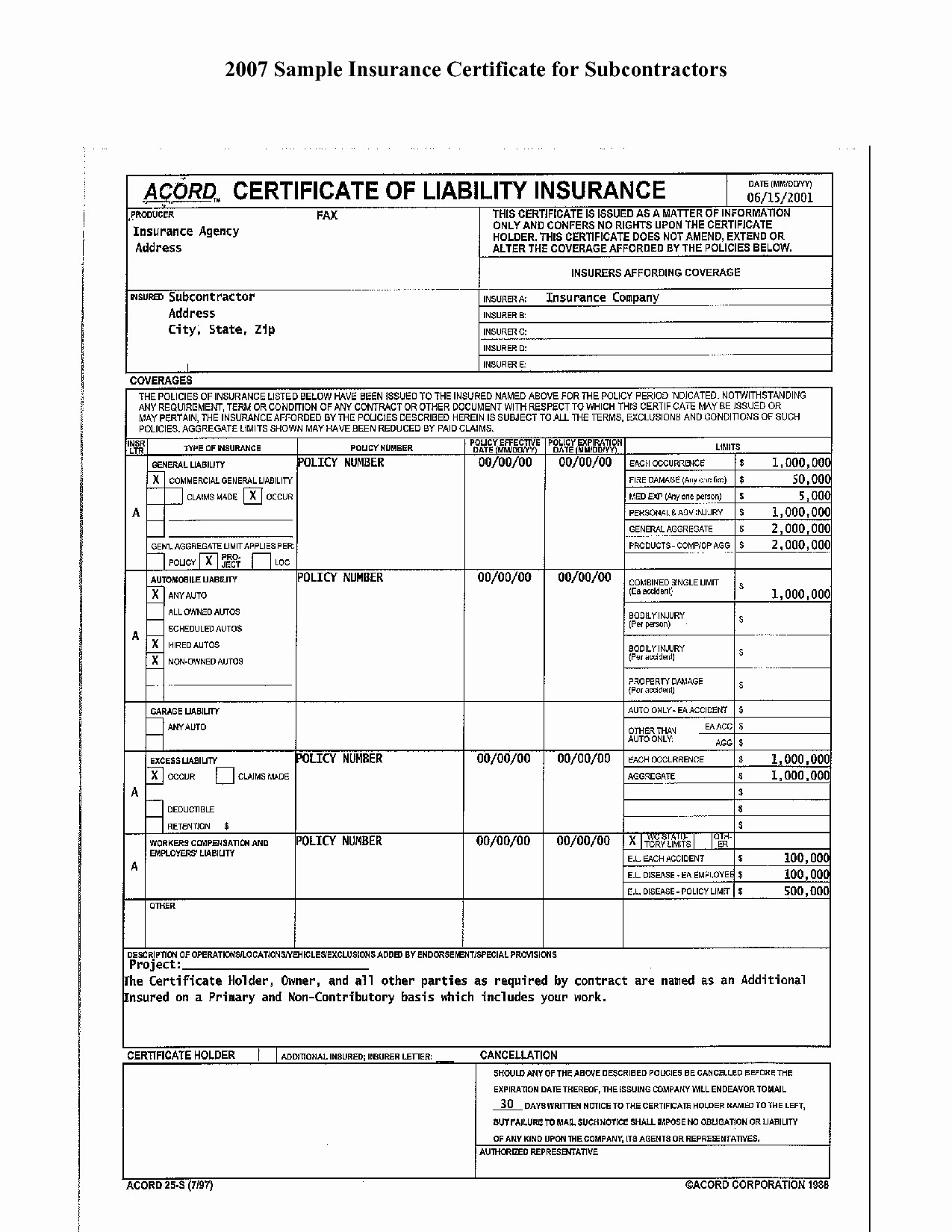 Example Of Certificate Of Liability Insurance   Paramythia