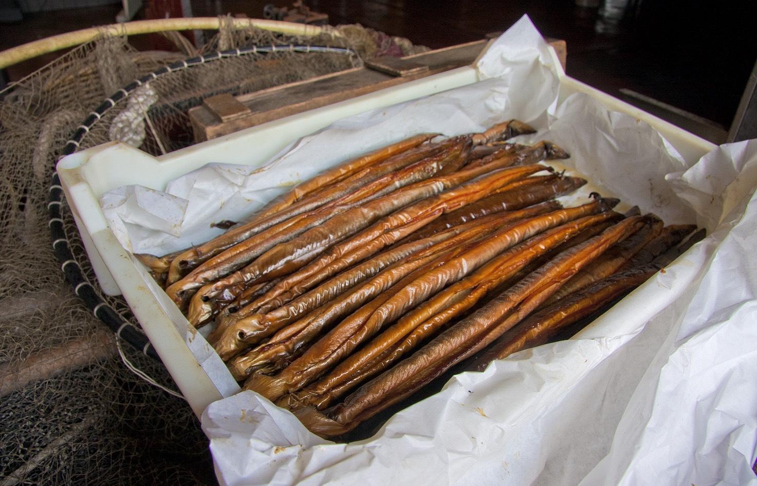 Smoked eel in Volendam.