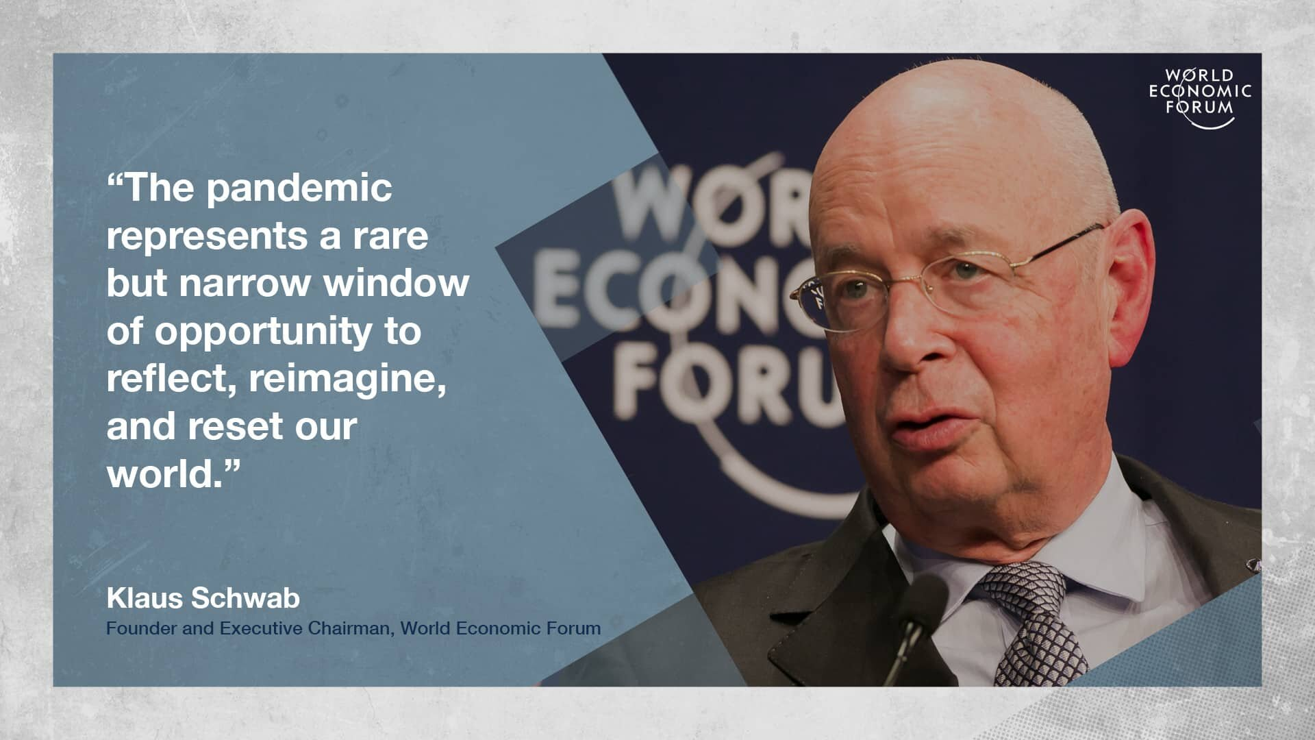 WEF Founder Klaus Schwab Calls For The 'Great Reset'