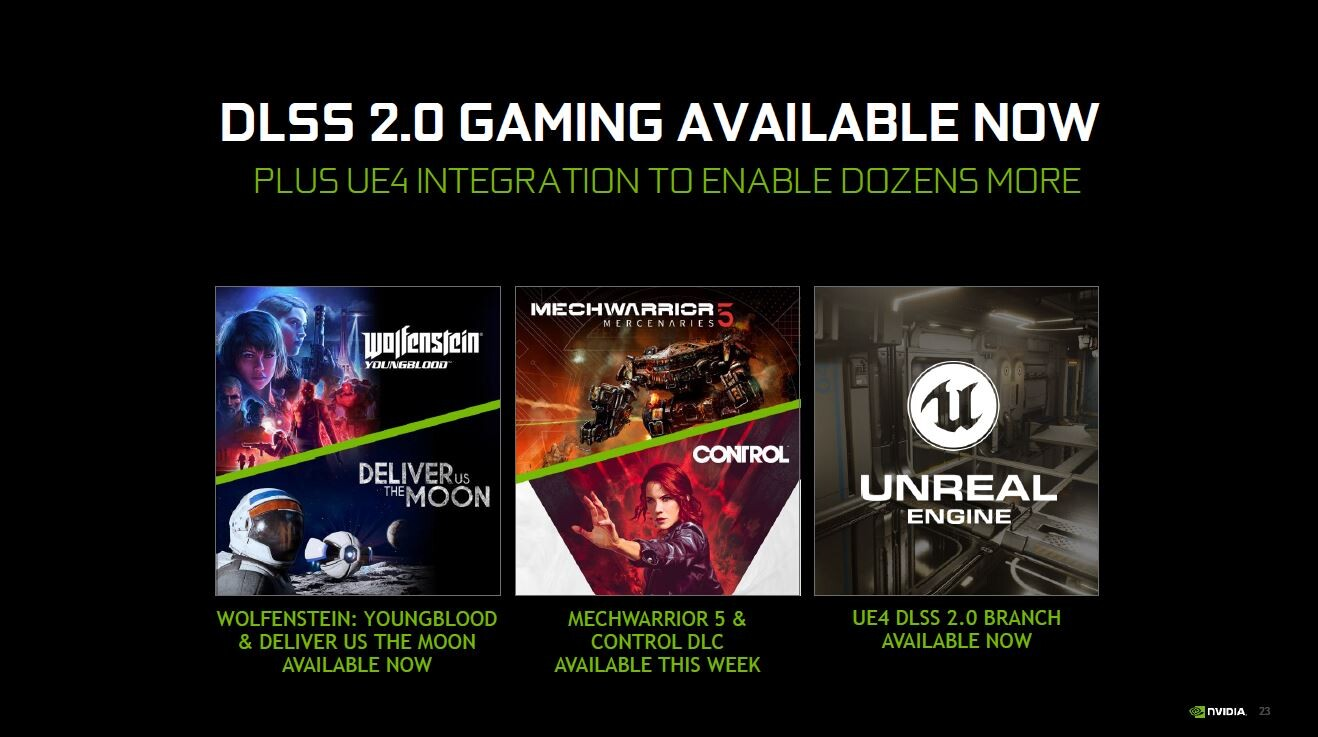 NVIDIA Announces DLSS 2.0 and New GeForce 445.75 Game ...