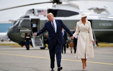 Donald Trump & First Lady Melania Trump leave Marine One ...