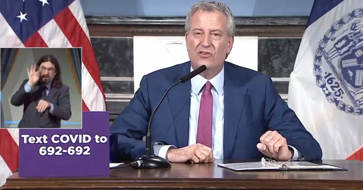WOAH! NYC Mayor Bill de Blasio Threatens to Permanently ...