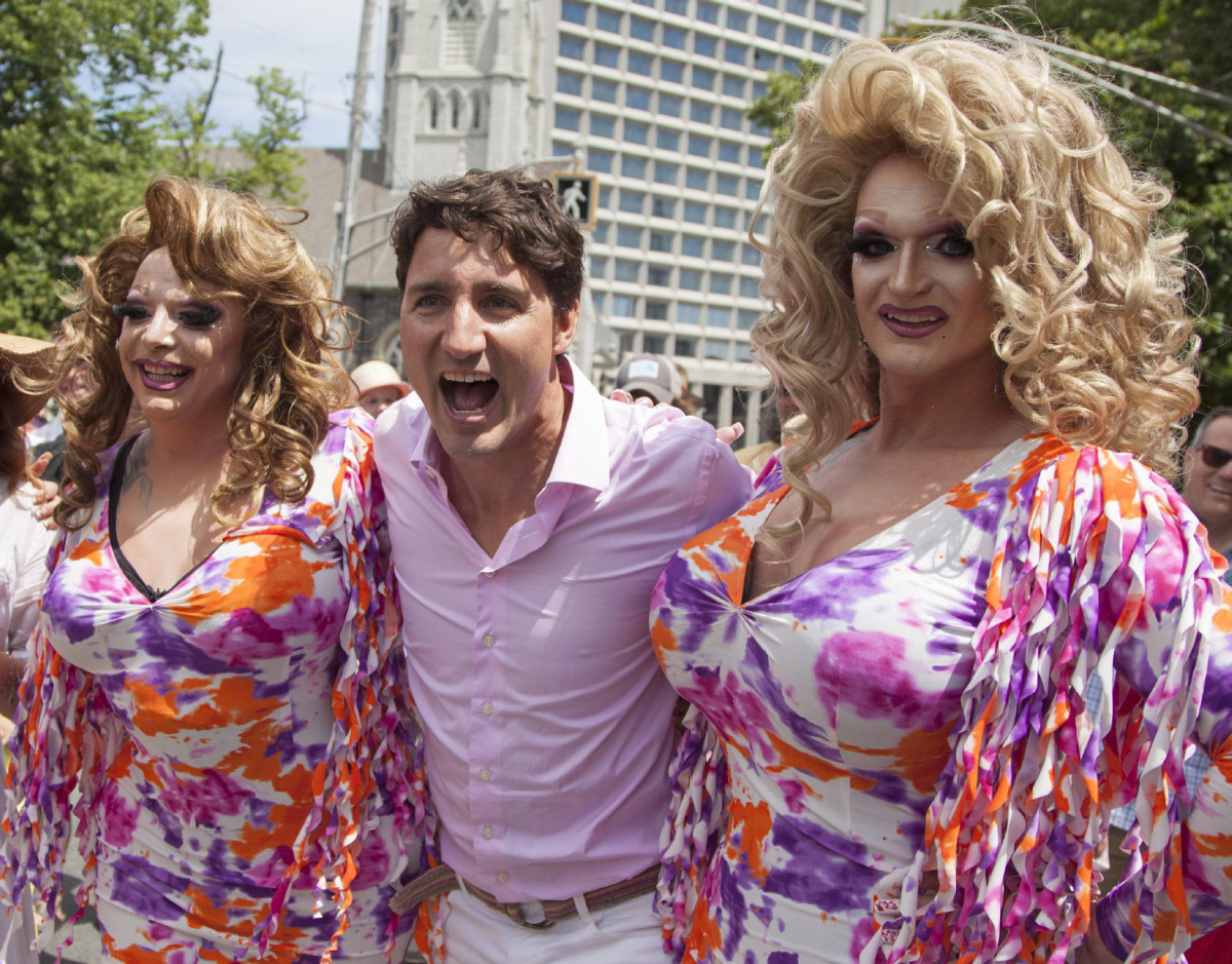 Justin Trudeau becomes first sitting PM to march in ...