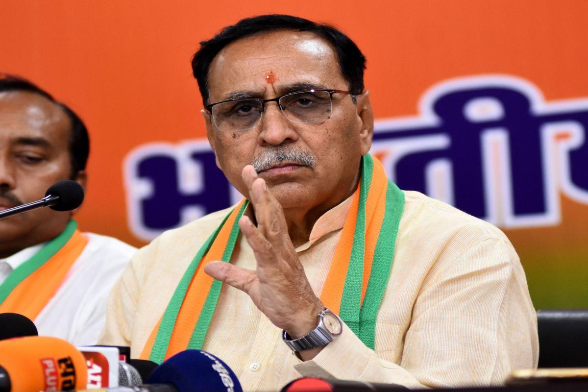 Gujarat CM Vijay Rupani walks away when asked to comment ...