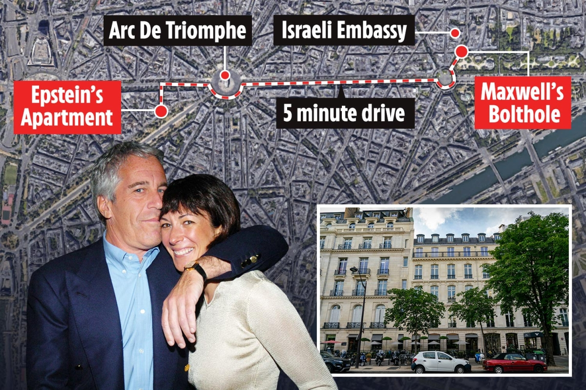 Jeffrey Epstein's 'madam' Ghislaine Maxwell hiding out in luxury Paris flat minutes from paedophile's pad hoping to avoid extradition…