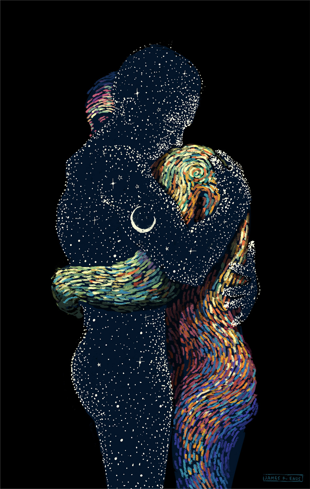 Swirling Illustrations by James R. Eads Explore Human ...