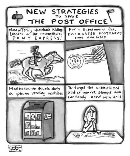 Save the US Postal Service! By a zillion dollars comics | Politics Cartoon | TOONPOOL