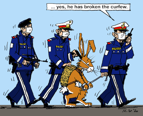 Police State? By MarkusSzy | Politics Cartoon | TOONPOOL