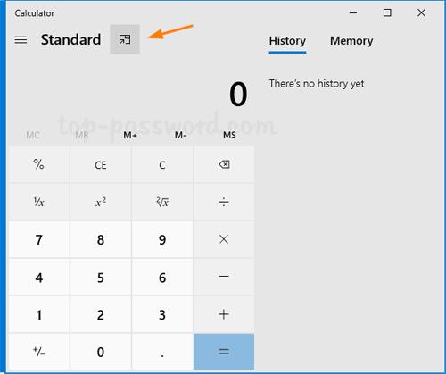 How to Make Windows 10 Calculator Always on Top | Password ...