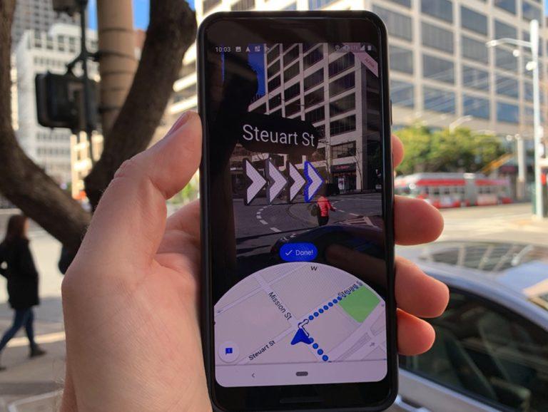 Cómo usar la Realidad Aumentada para navegar en Google Maps
