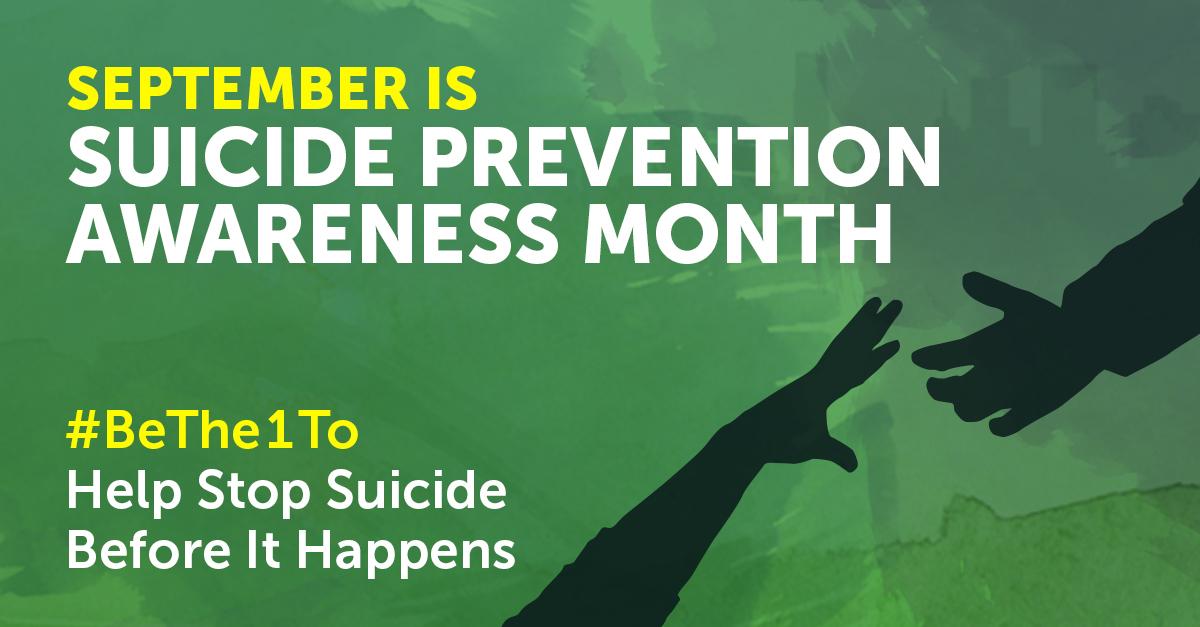 National Suicide Prevention Awareness Month - Volunteers ...