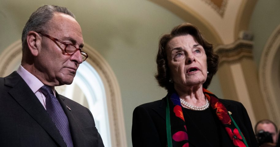 Feinstein (D-CN) impatient with Nervous Nancy. Signals Democrats Ready For Impeachment Trial To Start…