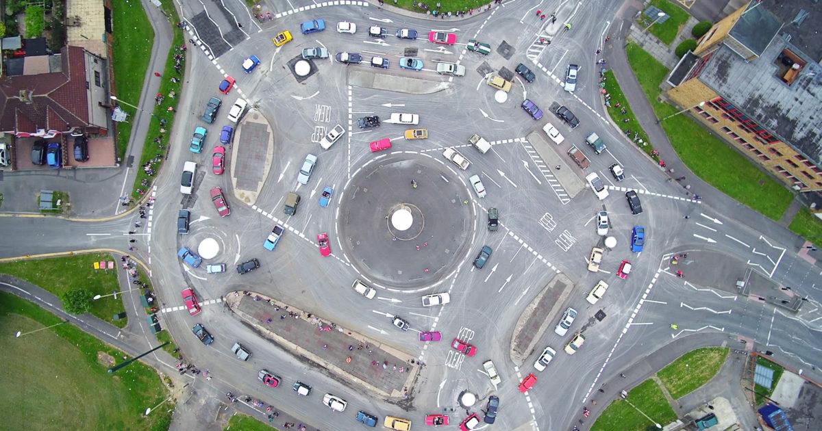 UK 7 circle roundabout could present a problem for Autopilot.
