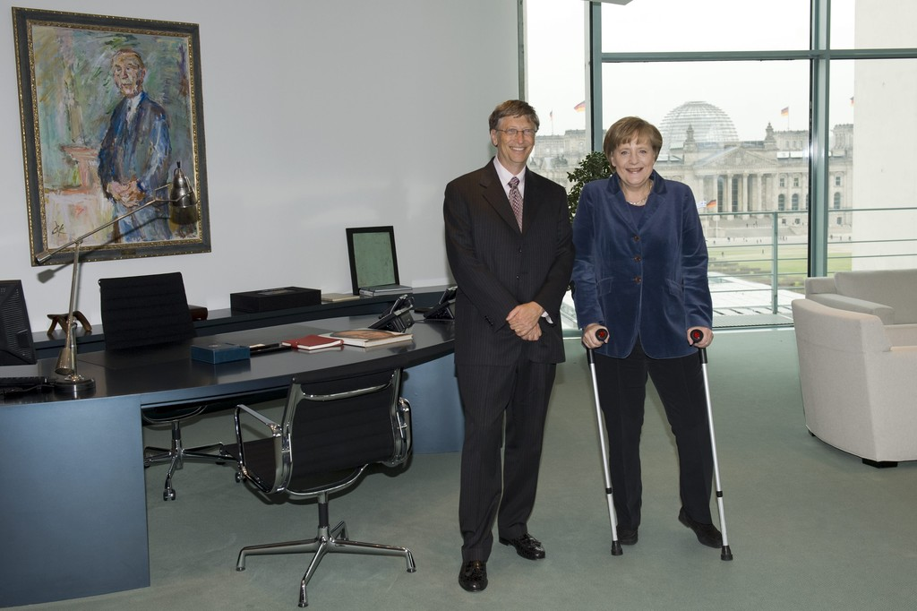 Bill Gates, Angela Merkel - Angela Merkel Photos - Bill ...