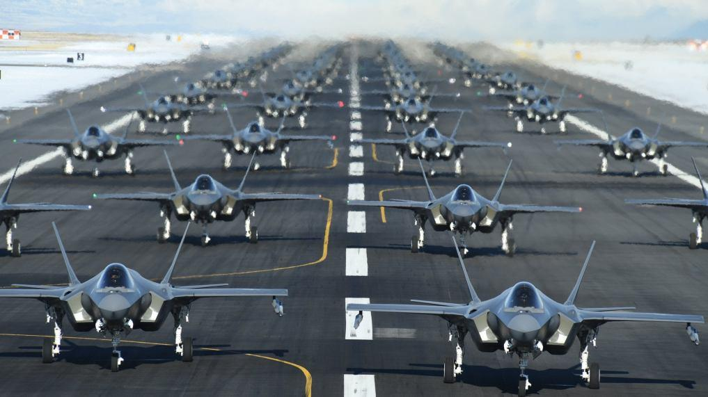52 Stealth Fighter Jets Elephant Walk In Show Of Force Amid Threats Of War…
