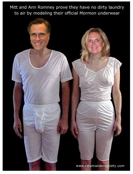 Mitt Romney's Magic Underwear | Dedicated to Mitt and His Holy Undergarments-Be Sure to Read the ...