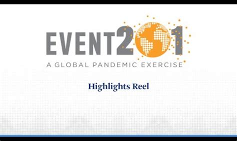 Event 201 Global Pandemic Drill Coronavirus by The Bill and Melinda Gates Foundation – vivomix